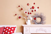 Cozy Christmas home interior — Stock Photo