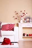 Cozy Christmas home interior — Stockfoto