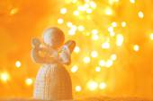 Knitted Christmas angel — Стоковое фото