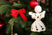 Anges de Noël tricotés — Photo