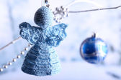 Knitted Christmas angel — 图库照片