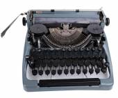 Antique Typewriter. Vintage Typewriter Machine, isolated on white — Stock Photo