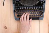Antique Typewriter. Vintage Typewriter Machine close-up — Stock Photo