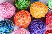 Delicious cupcakes close-up — 图库照片