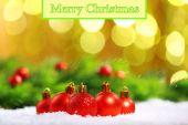 Christmas balls on abstract light background — Stock Photo