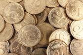 Ukrainian coins, macro view — Stock Photo