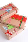 Hand-made Christmas gifts — Stock Photo