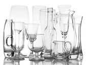 Different glassware isolated on white — ストック写真
