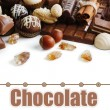 Delicious chocolate candies on white background — Stock Photo #61327541