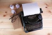 Antique Typewriter. Vintage Typewriter Machine — Stock Photo