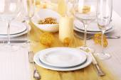 Beautiful holiday table setting — Stock Photo