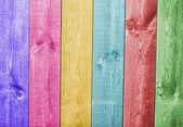 Fondo de tablón de madera colorida textura — Foto de Stock
