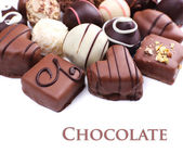 Chocolate sweet collection close-up — Stock Photo