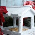 Handmade birdhouse in winter — Stock Photo #61632795