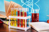 Glassware with chemical agent — Stockfoto