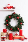 圣诞装饰花环 — 图库照片
