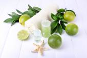 Spa composition with lime — Stock Photo