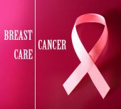 Breast cancer ribbon — Stock Photo