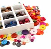 Colorful sewing buttons — Stock Photo