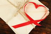 Ribbon in heart shape — Stock Photo
