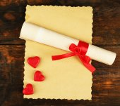 Sheet of paper with hearts — Stock Photo