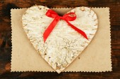 Valentine card in heart shape — 图库照片