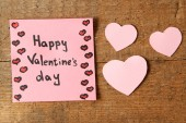 Valentines day note — Stock Photo