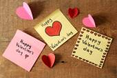 Valentinstag-hinweise — Stockfoto