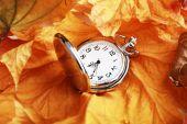 Horloge de poche argent — Photo