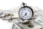 Silver pocket clock — Stock Photo