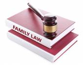 Judge's gavel on Family LAW book — Stock Photo