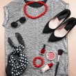 Fashionable female clothing and accessories — Stock Photo #62316917