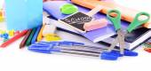 School stationery isolated on white — Стоковое фото