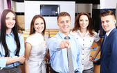 Group of business people at conference hall — Stock Photo