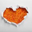 White torn paper heart — Stock Photo #62561727