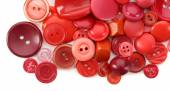 Colorful sewing buttons isolated on white — Stock Photo