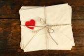 Stack of love letters — Stock Photo