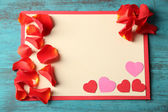 Beautiful post card with hearts — Stock Photo
