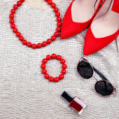 Female clothing and accessories — Stock Photo