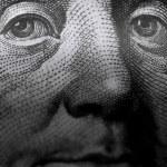 One hundred dollars, macro view — Stock Photo #62572221
