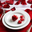 Table setting of Valentines Day — Stock Photo #62572349