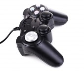 Black game controller — Stock Photo
