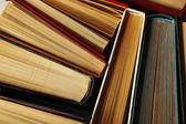 Pile of books, macro view — Stock Photo