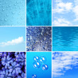 Blue color samples collage — Stock Photo #62771193
