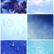 Blue color samples collage — Stock Photo #62771217