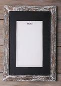доска с листком бумаги меню — Стоковое фото