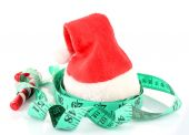 Measuring tape with Christmas decoration — Photo