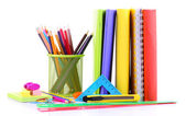 School supplies isolated on white — Стоковое фото