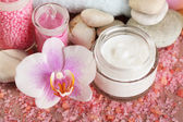 Spa treatments and cream — Stockfoto