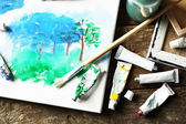 Professional art materials — Foto Stock